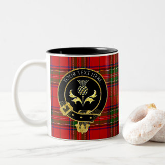Scottish Clan Crest Thistle Two-Tone Coffee Mug