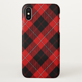 Scottish Clan Cunningham Tartan Plaid iPhone X Case