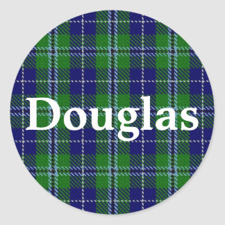 Scottish Clan Douglas Tartan Plaid Classic Round Sticker