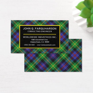 Scottish Clan Farquharson Tartan Plaid Business Card