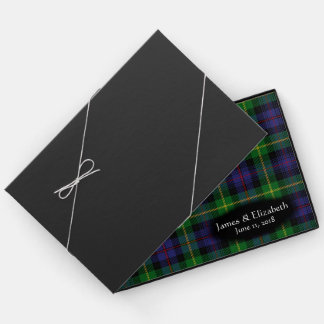 Scottish Clan Farquharson Tartan Plaid Wedding Guest Book