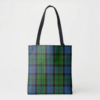 Scottish Clan Forsyth Forsythe Tartan Plaid Tote Bag