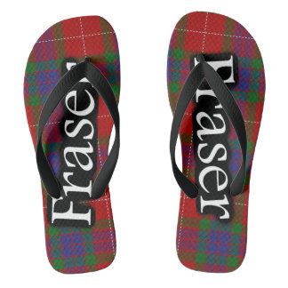 Scottish Clan Fraser Tartan Flop Flops Thongs