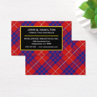 Scottish Clan Hamilton Tartan Plaid Business Card