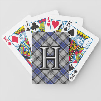 Scottish Clan Hannay Letter H Monogram Tartan Deck Bicycle Playing Cards