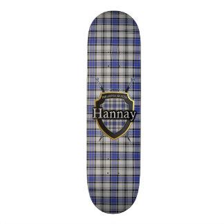 Scottish Clan Hannay Tartan Shield 20 Cm Skateboard Deck