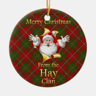 Scottish Clan Hay Christmas Ornament