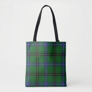 Scottish Clan Henderson Green Blue Tartan Plaid Tote Bag