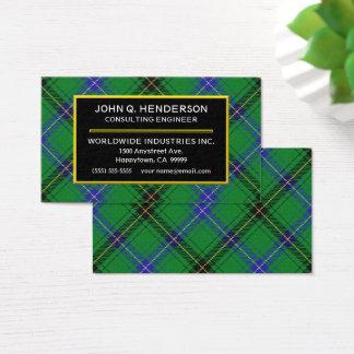 Scottish Clan Henderson Tartan Plaid Business Card