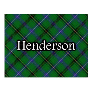 Scottish Clan Henderson Tartan Postcard