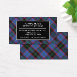Scottish Clan Home Hume Tartan Plaid Business Card