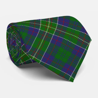 Scottish Clan Hunter Letter H Monogram Tartan Tie