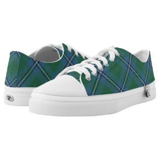 Scottish Clan Irvine Irwin Tartan Low Tops