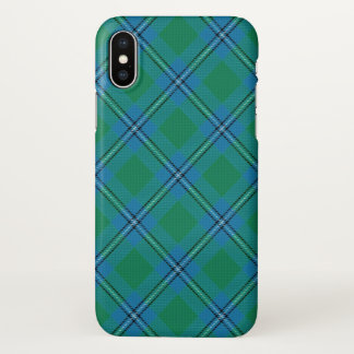 Scottish Clan Irvine Irwin Tartan Plaid iPhone X Case