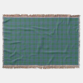 Scottish Clan Irvine Irwin Tartan Throw Blanket