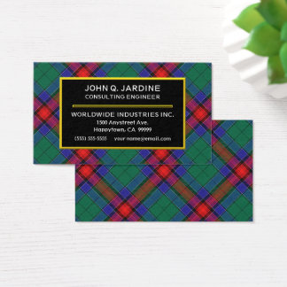 Scottish Clan Jardine Tartan Plaid Business Card