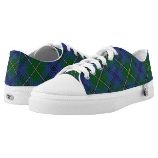 Scottish Clan Johnstone Johnston Tartan Low Tops
