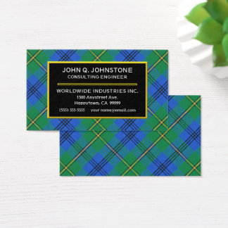 Scottish Clan Johnstone Johnston Tartan Plaid Business Card
