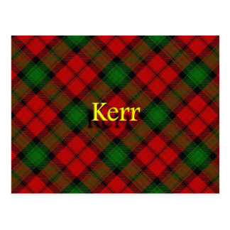 Scottish Clan Kerr Postcard