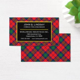 Scottish Clan Lindsay Tartan Plaid Business Card