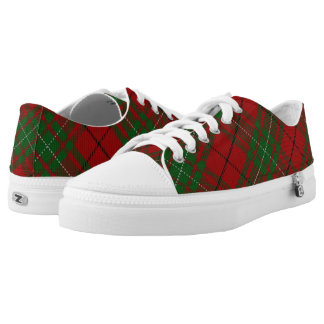 Scottish Clan MacAulay Tartan Printed Shoes