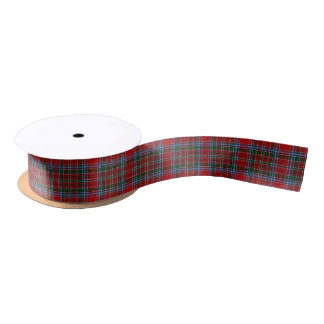 Scottish Clan MacBean MacBain Classic Tartan Satin Ribbon