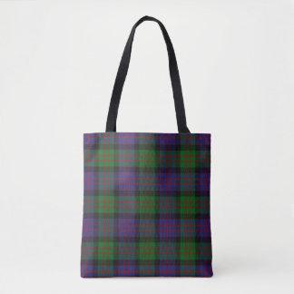 Scottish Clan MacDonald Donald Tartan Plaid Tote Bag