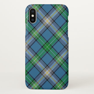 Scottish Clan MacDowall Tartan Plaid iPhone X Case