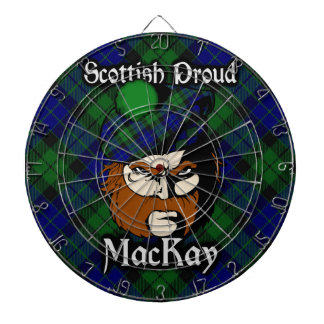 Scottish Clan MacKay Tartan Dartboard