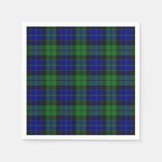 Scottish Clan MacKay Tartan Napkin Disposable Napkin