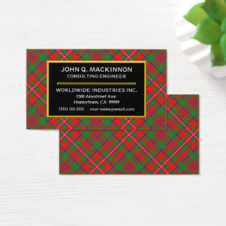 Scottish Clan MacKinnon Tartan Plaid Business Card
