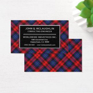 Scottish Clan MacLachlan Tartan Plaid Business Card