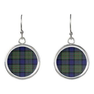 Scottish Clan MacLaren Tartan Plaid Earrings