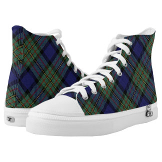 Scottish Clan MacLaren Tartan Plaid High Tops