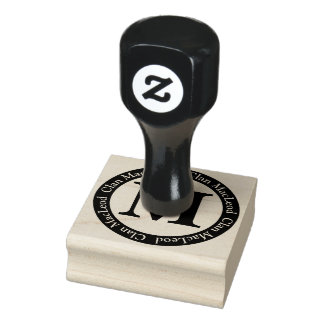 Scottish Clan MacLeod Letter M Monogram Rubber Stamp