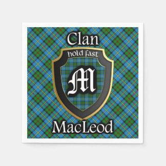 Scottish Clan MacLeod Tartan Napkin Disposable Serviette