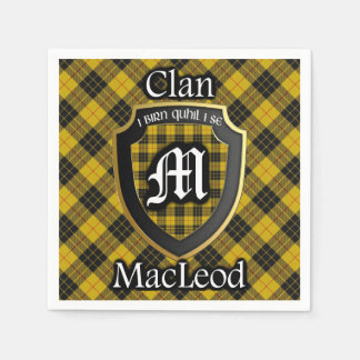 Scottish Clan MacLeod Tartan Napkin Paper Napkin