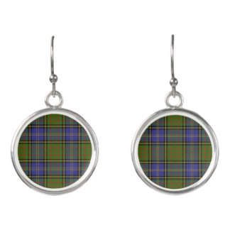 Scottish Clan MacMillan Hunting Tartan Plaid Earrings