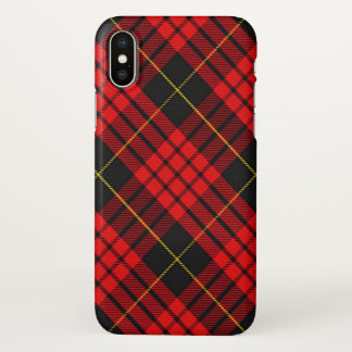 Scottish Clan MacQueen Tartan Plaid iPhone X Case