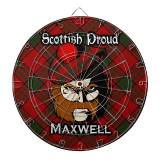 Scottish Clan Maxwell Tartan Dartboard