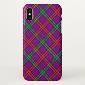 Scottish Clan Montgomery Tartan Plaid iPhone X Case