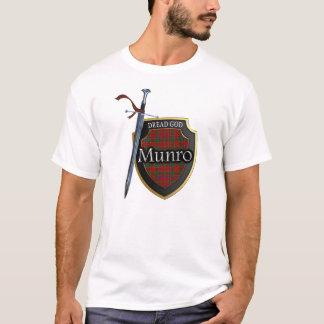 Scottish Clan Munro Tartan Shield and Sword T-Shirt
