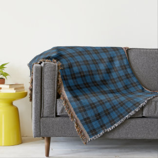 Scottish Clan Ramsay Blue Hunting Tartan Throw Blanket