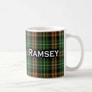 Scottish Clan Ramsay Ramsey Orange Hunting Tartan Coffee Mug