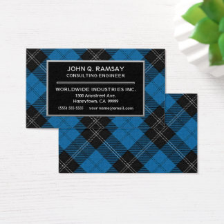 Scottish Clan Ramsay Tartan Plaid Business Card