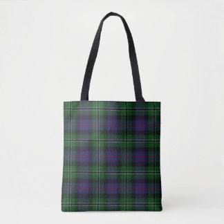 Scottish Clan Rose Hunting Tartan Plaid Tote Bag