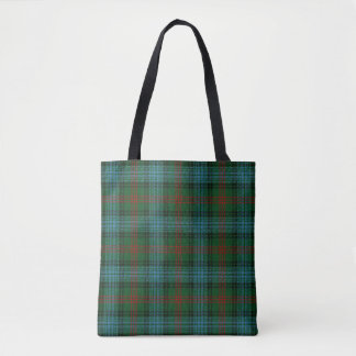 Scottish Clan Ross Hunting Tartan Plaid Tote Bag