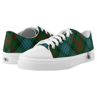 Scottish Clan Ross Hunting Tartan Printed Shoes