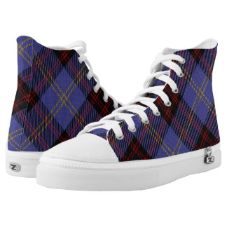Scottish Clan Rutherford Tartan High Tops