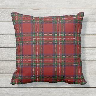Scottish Clan Stewart Red Tartan Outdoor Cushion